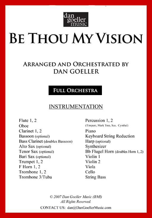 "Orchestra Hymn Arrangement ""Be Thou My Vision"""