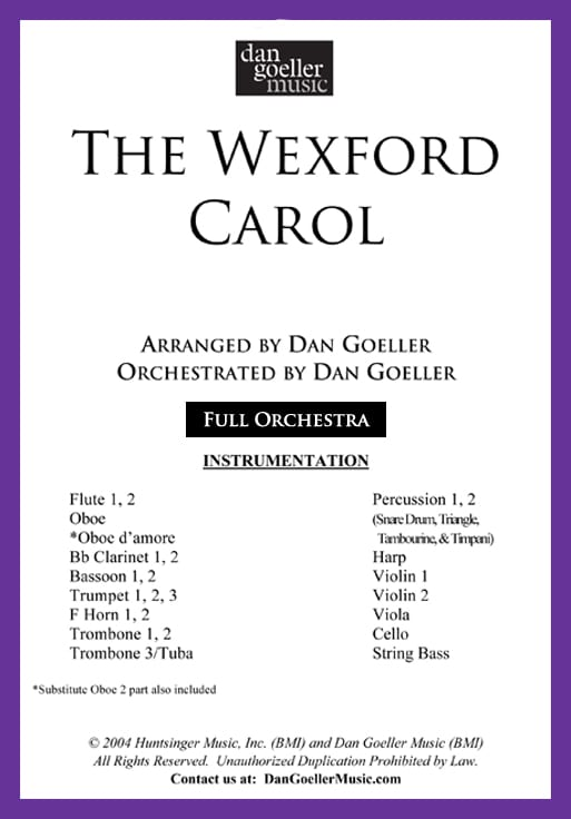 "72ae6885961d ""The Wexford Carol"" for ORCHESTRA"