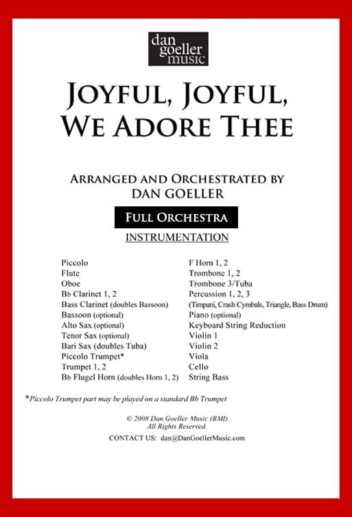"Hymn Tune for Orchestra ""Joyful, Joyful, We Adore Thee"""