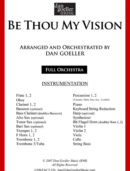 Hymn Arrangement for Orchestra: Be Thou My Vision